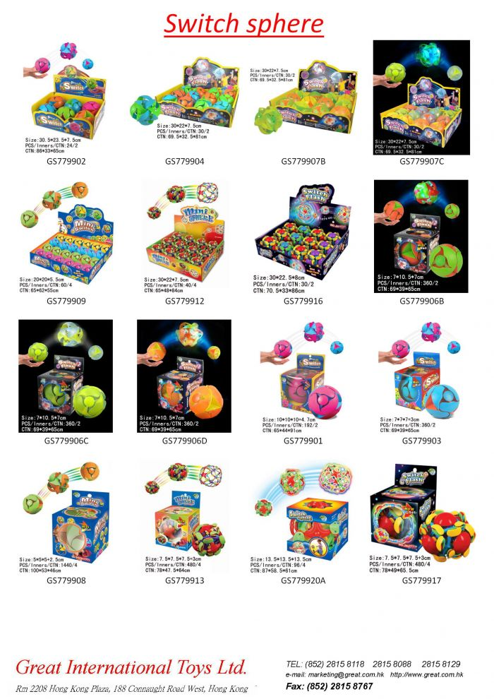 Great International Toys Limited :: Switch Spheres